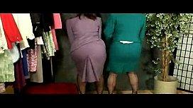 Secretary lesbian strip...