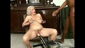 Interracial granny fuck...