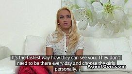Blonde waitress bangs big...