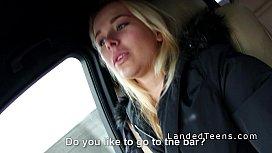 Blonde Euro teen sucking...