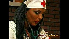 Busty nurse fucks her kinky patient with a giant strap-on www,xxx,com