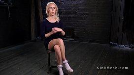 Blonde slave hard flogged...