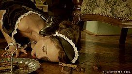 Clumsy Maid Sophie Lynx...