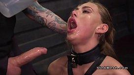 Bound slave gets dose...