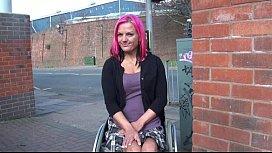Wheelchair bound Leah Caprice...