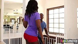 Ebony babysitter Skyler Nicole...