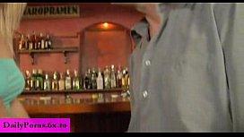 Blond beauty german teen get fuck in bar