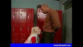 Hot blond cheerleader fuck...