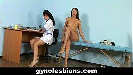 Lesbian doctor seduces her...