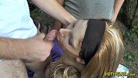 Beautiful wife Nicole swallows plenty of loads