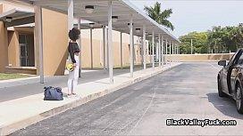 Curly black teens sharing...
