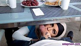 Arab teen busted MILF...