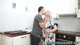 Fuzzy granny jizz mouthed...