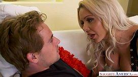 Big tits blonde MILF...