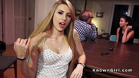 Blonde amateur teen banged...