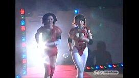 Japanese girls wrestling...