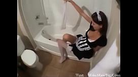Teen Maid gives Naughty...