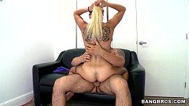Blonde Fucked on backroom...