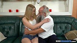 Santa lookalike grandpa fucks...