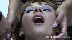 Premium Bukkake - Michelle swallows...