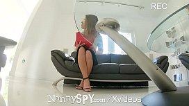 NannySpy Brunette babysitter Adriana...
