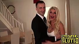 Stunning blonde slut Tia...