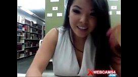 Girl masturbating webcam at...