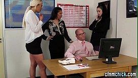 Cfnm brits humiliate boss...