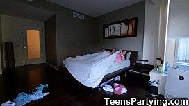 Teens Had a Sleepover...