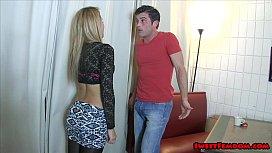Marina Angel Ballbusting Waitress...