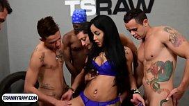 Latina tranny beauty with...