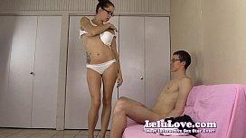 Amateur girl gives him...