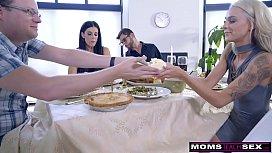 Mom Fucks Son Eats Teen Creampie For Thanksgiving Treat