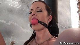 Toyed BDSM euro gagged...