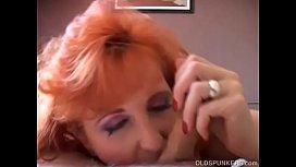 Raunchy redhead old spunker...