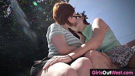 Hairy lesbian redheads fuck...