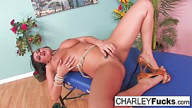 Charley Chase rubs her...