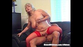 Blonde Horny Granny Lured...