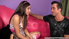 Asian teen Licks Her...
