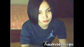 Yummy Korean girl, horny on webcam