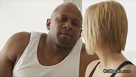 Blonde screams during BBC...