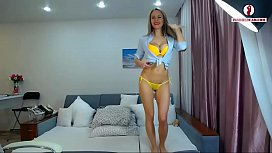 Soccer Fan Beautiful Striptease...