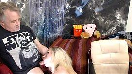 Cuming on Roxys Boobs After Deepthroat Blowjob father daughter porn