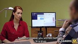 Busty Redhead Customer Hypnotizes...