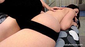Busty Milf Julia Ann Gives A Hard Spanking!