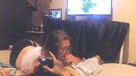 Video game blowjob...