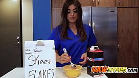 Hot nurse attends patient...