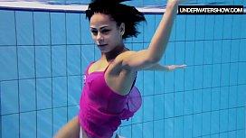 Zlata Oduvanchik swims in...