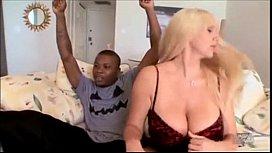 Mature blonde fucking black...