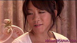 Japanese lesbian milf using...